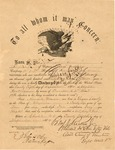 Discharge of Nimrod Mason as 2nd Lieutenant in the 7th WVa Cavalry (US), Sept 25, 1864