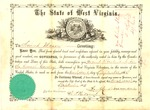 State Appointment of Nimrod Mason as 2nd Lieutenant in the 7th WVa Cavalry (US), Sept 22, 1864.