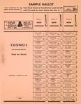 City of Huntington,WVa, City Council election ballot, 1957, col