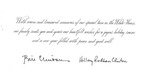 Christmas card from Pres. Bill Clinton and Hillary Clinton to Mr & Mrs Matt Reese, 2000, b&w
