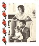 Christmas card from JFK, Jacqueline & Caroline Kennedy, 1960, col.
