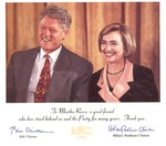 Autographed thank you card from Pres. & Mrs. Bill Clinton to Martha Reese, 1994, col.