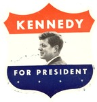Decal of John Kennedy for President, ca. 1960, col.
