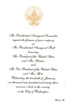 Invitation to Presidential Inaugural Ball of Pres.Bill Clinton, Jan. 20, 1993, col..