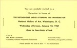 Invitation to Distinguished Ladies attending the inauguration of John F. Kennedy, Jan. 18, 1961, col.