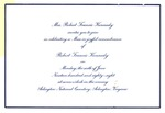 Invitation to a remembrance Mass for Robert F. Kennedy, June 6, 1988, col.