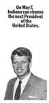 Flyer for Robert F. Kennedy for president, 1968, b&w