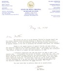 """Letter from WV Sec. of State Ken Hechler to Matt Reese regarding Kennedy """"Profile in Courage Award,"""" May 16, 1998, col."""