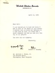 Letter from Senator Robert F. Kennedy to Matthew Reese, regarding death of his father, Apr. 13, 1965, col.
