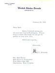 Letter from Senator Robert F. Kennedy to Matthew Reese, Jan. 20, 1966, col.