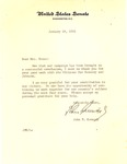 Letter of thanks from John F. Kennedy to Mrs. Matthew Reese, Jan. 1961, col.
