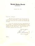 Letter of thanks from John F. Kennedy to Mrs. Howard Sedinger, Huntington,WV, Jan. 1961, col.