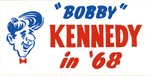 Plastic license plate for Robert F. Kennedy for president, 1968, col.