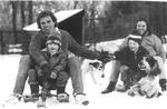 Christmas postcard showing Joe, Sheila, Matt and Joe Kennedy, III., 1986