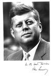 Autographed photo of John F. Kennedy, ca. 1960