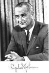 Autographed photo of Pres. Lyndon B. Johnson, ca. 1965