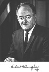 Autographed photo of Vice Pres. Hubert H. Humphrey, ca. 1965