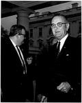 Photo of Pres. Lyndon B. Johnson, by Cecil W. Stoughton, Apr 8, 1964