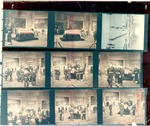 Contact prints of images of Pres. Dwight D. Eisenhower's memorial services