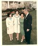Pres. Lyndon B.Johnson, wife Lady Bird, daughters Lynda & Luci, ca. 1964-65
