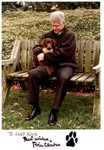 Autographed photo of Pres. Bill Clinton with dog Buddy