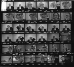 Contact prints made at a banquet on Jan. 22, 1975 of Matt Reese and Janet ?