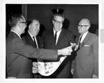 Matthew Reese receiving the Outstanding Citizenship Award, Oct. 1965
