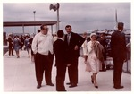 Matthew Reese,(left) meeting politicians at Tri-State Airport, Oct. 1964