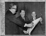 Matthew Reese, receiving the American Heritage Award, Oct. 1965