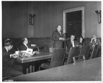 Sen. Jennings Randolph speaking, Matt & Martha Reese seated,
