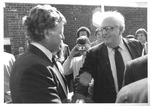 Matthew Reese shaking hands with Ted Kennedy,