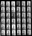 Page of contact prints of Matthew Reese, 1984