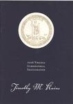 Program for Virginia 2006 Gubernatorial Inauguration of Timothy M. Raine, col.