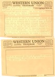 Western Union telegram from the Kennedy family to Matthew Reese, June 7, 1967, col.