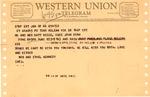Western Union telegram from Robert & Ethel Kennedy to Matthew Reese, Jan. 28, 1966, col.