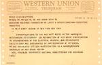 Western Union telegram from Louis Novins, Chair. American Heritage Found. to Neil Staebler & Matthew Reese, Oct. 18, 1965 , col.