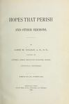 Hopes that Perish, and Other Sermons