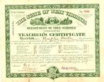 Memphis Tennessee Carter third grade teaching certificate in WVa schools, Oct. 12, 1906, col.