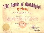 Memphis Tennessee Garrison diploma to Instutite of Mentalphysics, col.