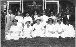 Students at Athens, Ohio, 1911, Memphis Tennessee Garrison seated 1st on left