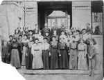 Students and teachers, M.T. Garrison, likely Bluefield State College, early 1900's