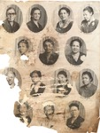 Students including Memphis T. Garrison, likely Bluefield State College, early 1900's
