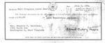 Receipt for Memphis T. Garrison's life membership in the NAACP, July 7, 1964, b&w.
