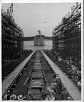 Launching of the Liberty ship, SS Dwight W. Morrow, 1943