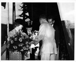 Agnes Morrow Scandett & Betty Morrow christening SS Dwight W Morrow