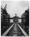 Launching of the Liberty ship SS Dwight W Morrow