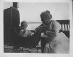 Clara Morrow and baby, ca. 1910