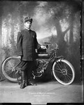 Huntington, W.Va.'s First Motorcycle Policeman With His Indian Motorcycle by Proctor Studio