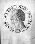 Drawing by Prof Joe Jablonski of Marshall logo for 1937 centennial celebration