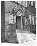 Old Main north entrance, ca. 1965
